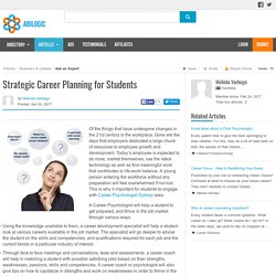 Strategic Career Planning for Students