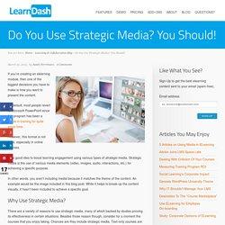 Do You Use Strategic Media? You Should!