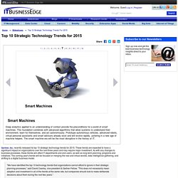 Top 10 Strategic Technology Trends for 2015