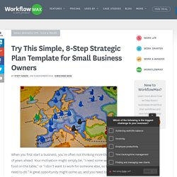Try This Simple, 8-Step Strategic Plan Template for Small Business Owners