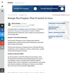 Strategic Plan Template: What To Include In Yours