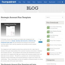 Strategic Account Plan Template-Go to Market Strategy-VP Marketing On Demand