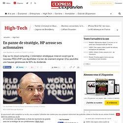 En panne de stratégie, HP arrose ses actionnaires