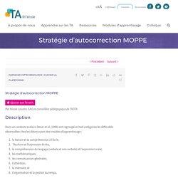 Stratégie d'autocorrection MOPPE - TA@l'école