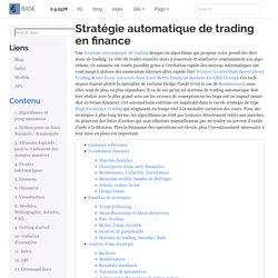 Stratégie automatique de trading en finance — Python dans tous ses états 0.9.2978.2978