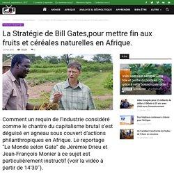 La Stratégie de Bill Gates,pour mettre fin aux fruits et céréales naturelles en Afrique. -