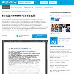 Stratégie commercial de audi