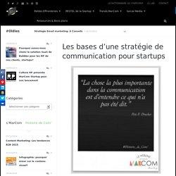 Les bases d'une stratégie de communication pour startups