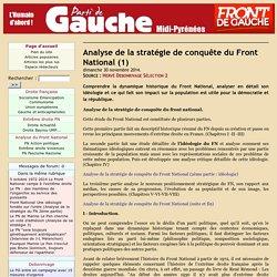 Analyse de la stratégie de conquête du Front National (1)