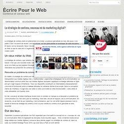 Stratégie de contenu web: dernier né du marketing digital?