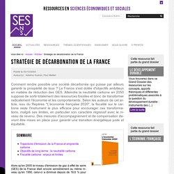 Stratégie de décarbonation de la France