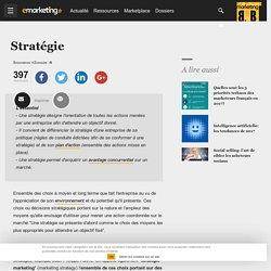 Stratégie - Définition du glossaire