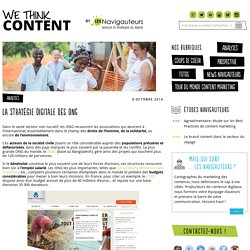 La stratégie digitale des ONG - We think content