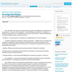 Stratégie De Philips - Documents Gratuits - Troy