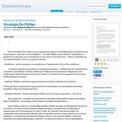 Stratégie De Philips - Documents Gratuits - Troy