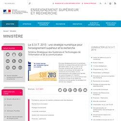 Le S.3.I.T. 2013 : une stratégie numérique