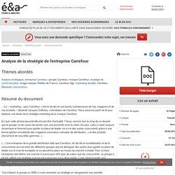 Analyse de la stratégie de l'entreprise Carrefour