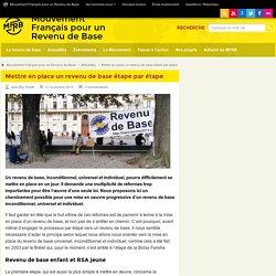 Une stratégie en plusieurs étapes pour instaurer un revenu de base en France
