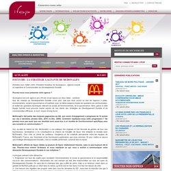 FOCUS DD : La stratégie gagnante de McDonalds