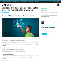 5 raisons d'utiliser Google+ dans votre stratégie marketing (+ infographie)