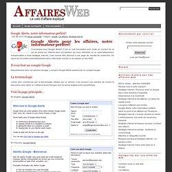 Stratégie internet: Google Alerts pour les affaires