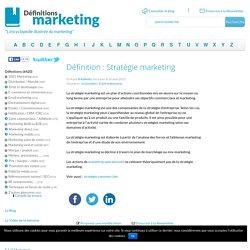 Stratégie marketing