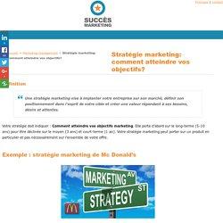Stratégie marketing: création stratégique pour atteindre votre cible. Ex : Mc Donalds