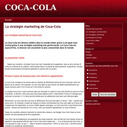 La stratégie marketing de Coca-Cola