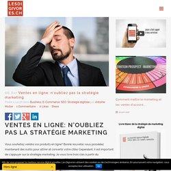 Ventes en ligne: n'oubliez pas la stratégie marketing - Les DIGIVORES