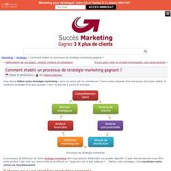 Stratégie marketing: processus gagnant pour atteindre vos objectifs marketing