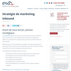 Stratégie de marketing inbound