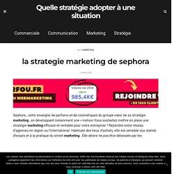 la strategie marketing de sephora - Quelle stratégie adopter à une situation