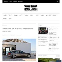 Stratégie : BMW est la marque avec la meilleure réputation selon une étude