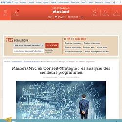 Masters/MSc en Conseil-Stratégie : les analyses des meilleurs programmes