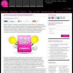 Qu'est-ce qu'une stratégie numérique ? - RevSquare