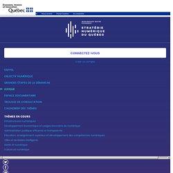 Stratégie numérique du Québec - Objectif numérique