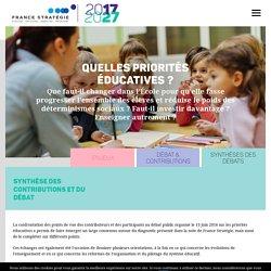 France Stratégie : 2017/2027 Quelles priorités éducatives ?