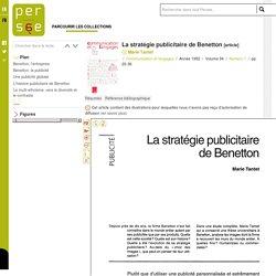 La stratégie publicitaire de Benetton