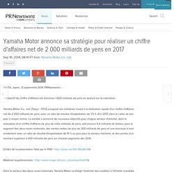 Yamaha Motor annonce sa stratégie pour réaliser un chiffre d'affaires net de 2 000 milliards de