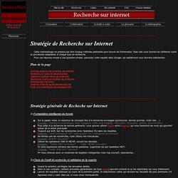 Stratégie de recherche sur internet