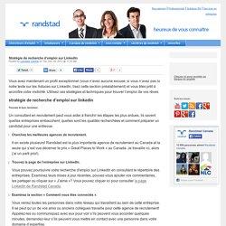Stratégie de recherche d'emploi sur LinkedIn