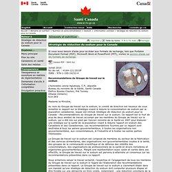 SANTE CANADA - JUILLET 2010 - Stratégie de réduction du sodium pour le Canada