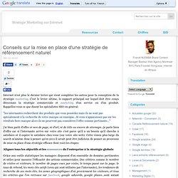 Conseils sur la mise en place d'une stratégie de référencement naturel | Conseils & Guides Référencement Naturel