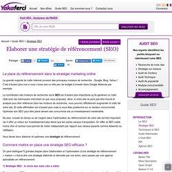 Stratégie SEO: stratégie de référencement naturel en 5 étapes