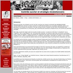 Ernest Mandel (1969): Contrôle ouvrier et stratégie révolutionnaire