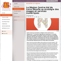 La Région Centre-Val de Loire dévoile sa stratégie des usages et services numériques - Villes au Carré