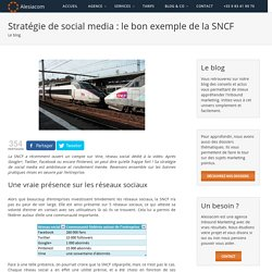 Stratégie de social media : le bon exemple de la SNCF