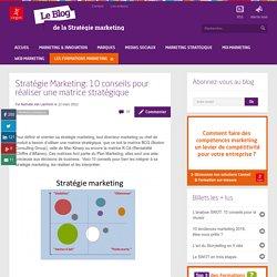 Stratégie Marketing:10 conseils pour réaliser une matrice stratégique