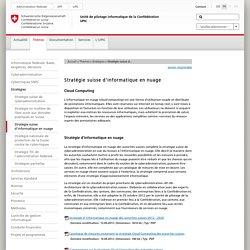 UPIC - Stratégie suisse d'informatique en nuage