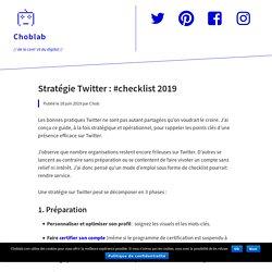 Stratégie Twitter : #checklist 2019